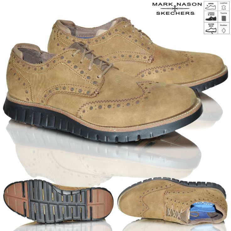 SKECHERS Mens Casual Comfort Oxford Style Memory Foam OUTCIDER Desert Shoes