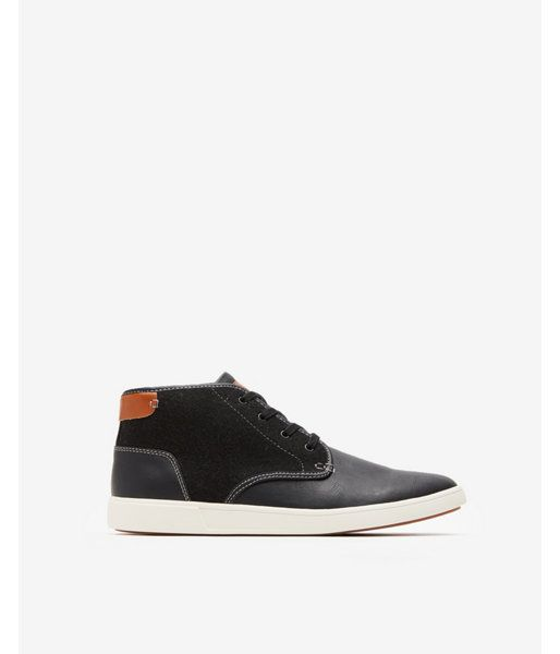 754459c9745 Express Mens Steve Madden Textured Lace-Up Sneakers Black Men's 11.5 ...