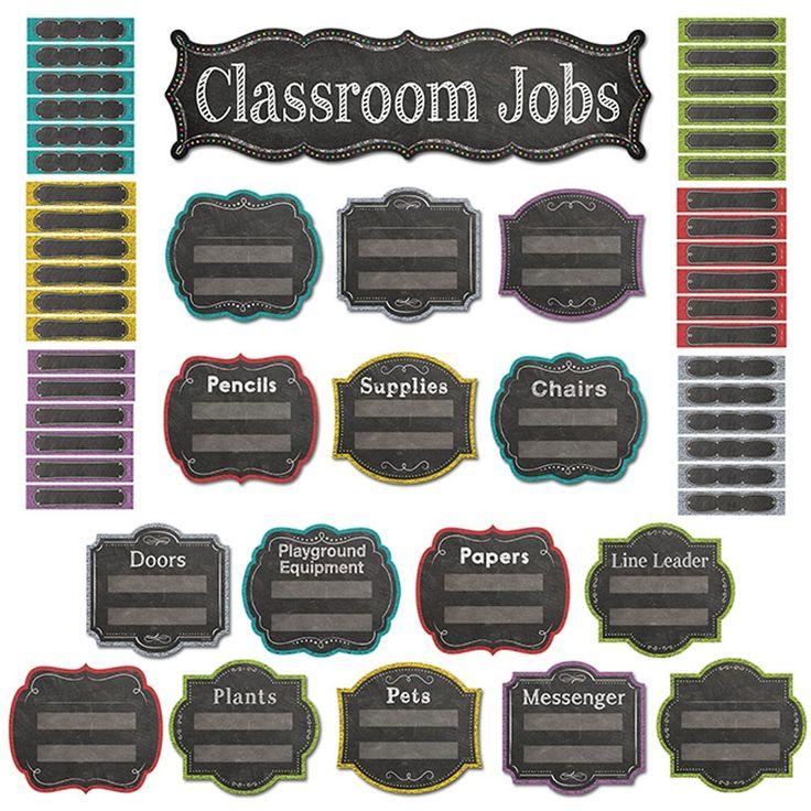 Chalk It Up! Classroom Jobs Mini Bulletin Board (With