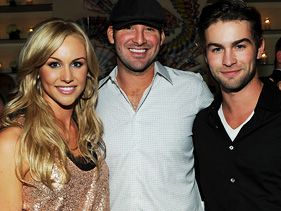 Tony Romo, wife Candice and her brother Chace Crawford