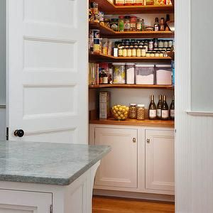 Wraparound Pantry Shelves, Transitional, kitchen, Crown Point Cabinetry