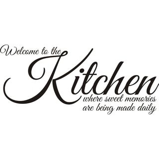 Design on Style 'Welcome to the Kitchen Where Sweet Memories Are Being Made' Vinyl Art Quote - 16055189 - Overstock.com Shopping - The Best Prices on Design on Style Quotes & Sayings