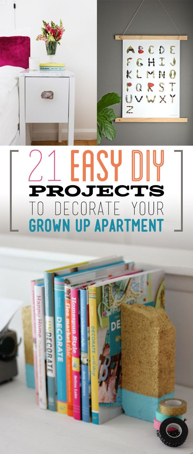 21 Easy DIY Projects To Decorate Your Grown Up Apartment