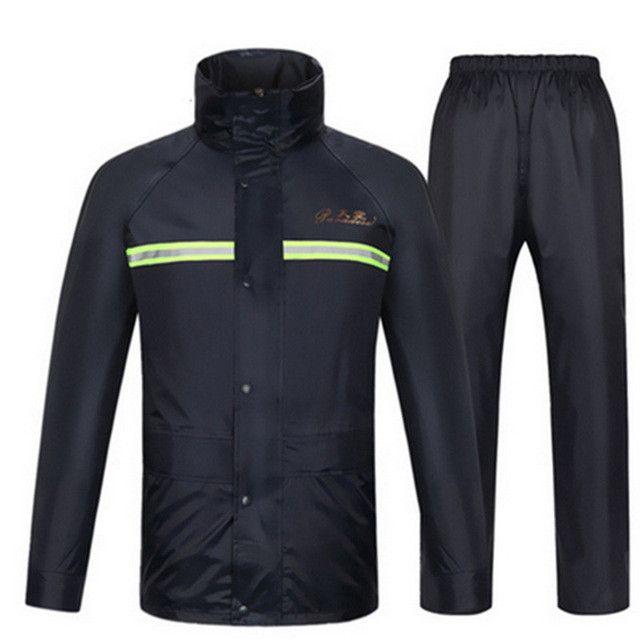 Raincoat,rain pants,Heavy rain gear,Waterproof motorcycle bicycle rain jacket suit poncho table size Large Size fishing raincoat