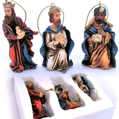 NEW AVON 2002 THREE 3 KINGS Christmas Holiday ORNAMENTS Set + Fitted-FOAM, BOX $1 sorry SOLD, we sell more Christmas Home Décor Decoration at   http://www.TropicalFeel.com: Decoration