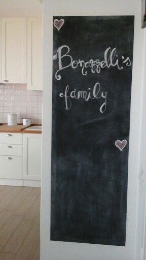 Lavagna ingresso cucina in attesa di una cornice..