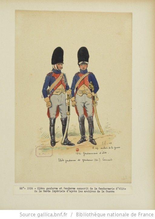 [Grenadiers-gendarmes, gendarmerie d'élite de la garde des consuls et de la garde impériale, 1793-1815 / Notes et aquarelles par E. Fort.] - 36