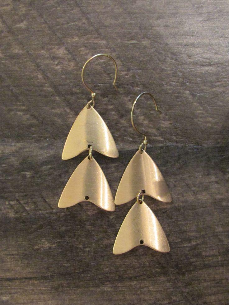Geometric Double Triangle Drop Earrings