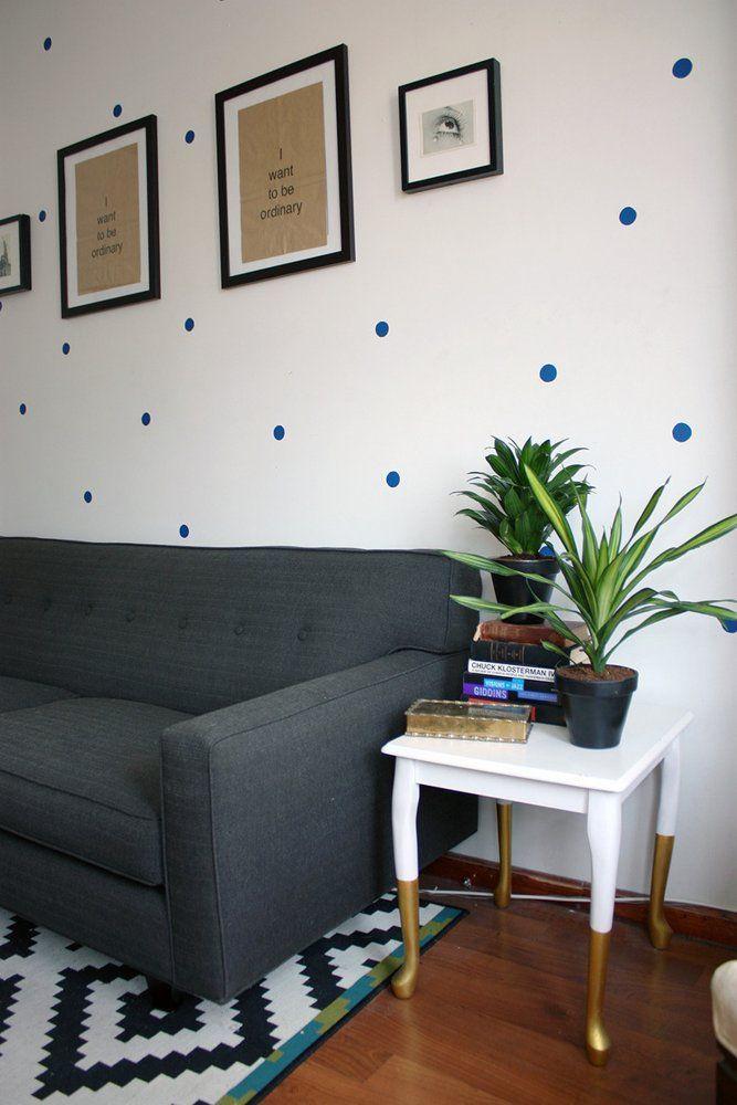 I like this blue polka dot wall