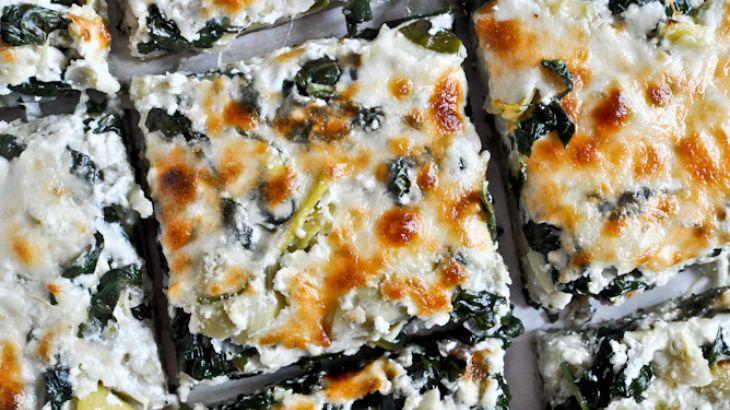 Cheesy Spinach and Artichoke Pizza | Gluten Free Recipes | Pinterest