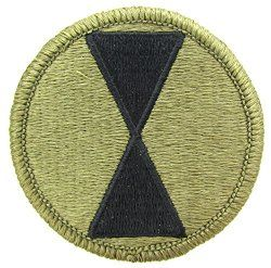 NSN: 8455-01-647-6593 (UNIT PATCH, 7TH INFANTRY, MULTICAM / OCP) - ArmyProperty.com