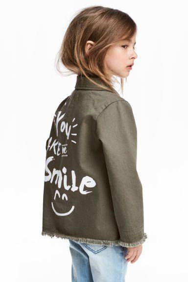 Форменная куртка - Хаки - Дети | H&M RU