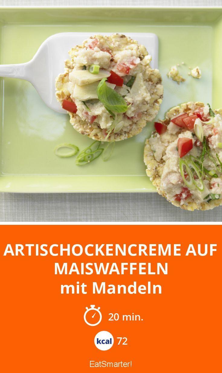 Artischockencreme auf Maiswaffeln - mit Mandeln - smarter - Kalorien: 72 kcal - Zeit: 20 Min. | eatsmarter.de