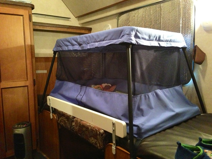 Babybj 246 Rn Travel Crib Fits Fairly Well On The Kids Bed