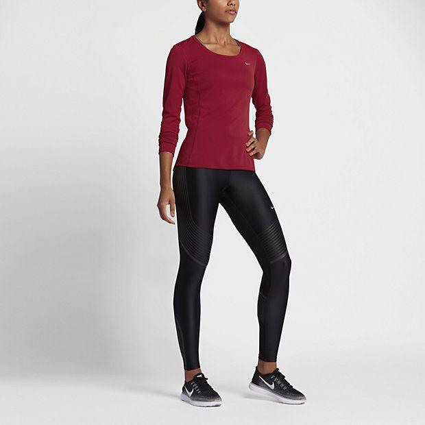 Nike Zonal Cooling Contour - langærmet løbetrøje til kvinder