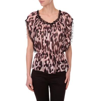 3 SUISSES - Top fluide imprimé léopard - MORGAN