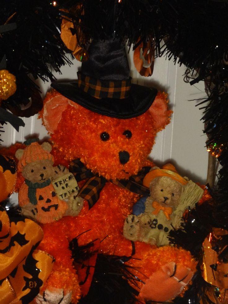 sale wreath clearance wreath lighted halloween wreath teddy bear wreath halloween decoration
