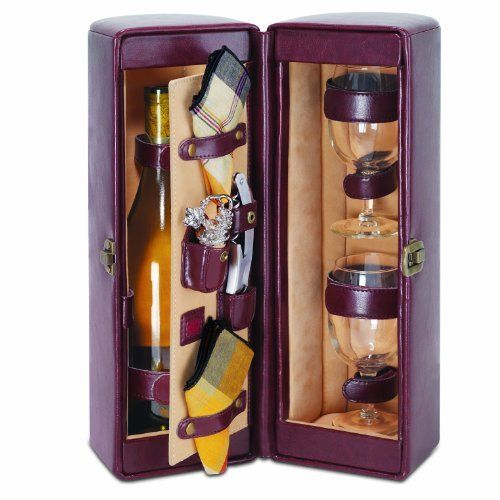 Picnic Time Harmony Single Bottle Wine Case, with Wine Service for 2, Mahogany by Picnic Time. Save 20 Off!. $57.22. Deluxe wine carrier. Available in two handsome colors. Great for parties or concerts. This wine carrier makes an impressive gift. Single bottle case with service for two. This handsome Picnic Time Harmony Wine Case features an upscale presentation in attractive faux leather, which, when unclasped, reveals a two-sided storage case to house a bottle of wine on one sid...