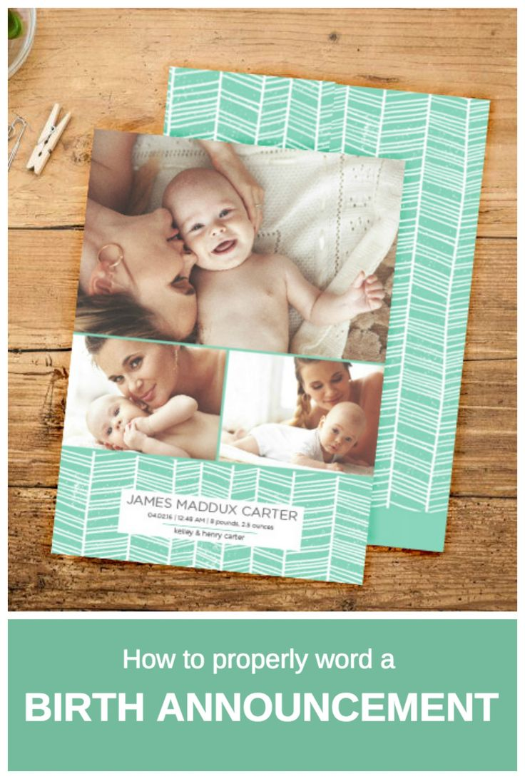 Birth announcement wording how-to