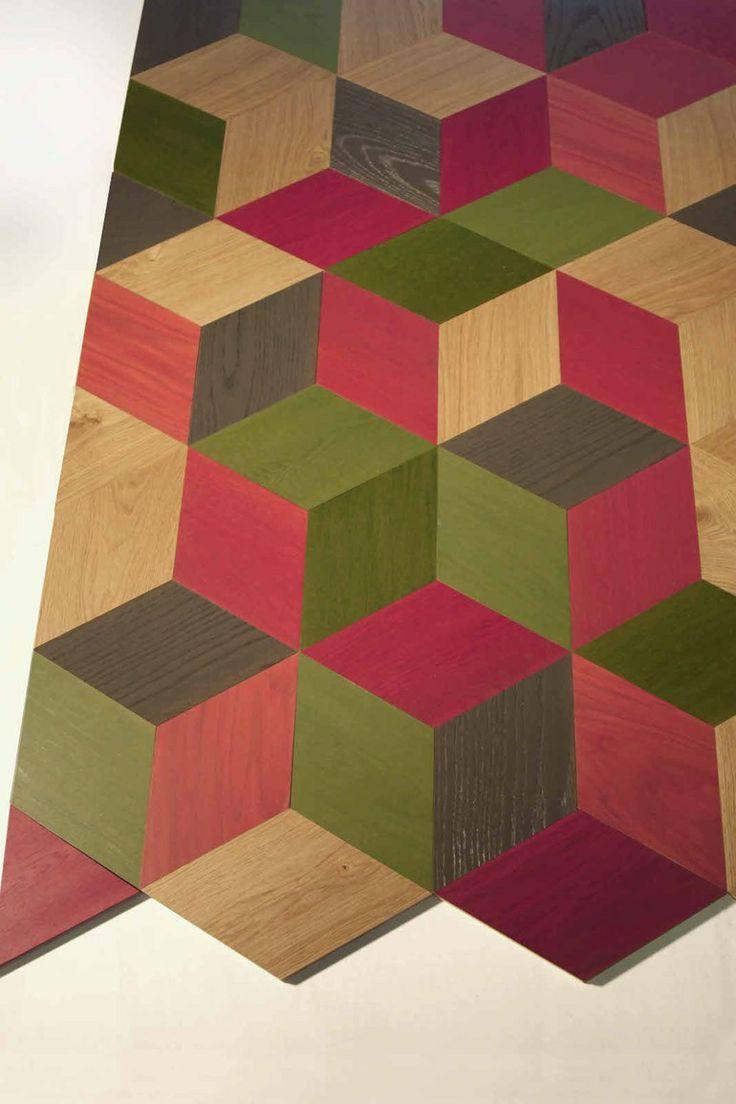 Oak wall/floor #tiles CUTS by MENOTTI SPECCHIA | #design Gio Tirotto #wood @Menotti Specchia