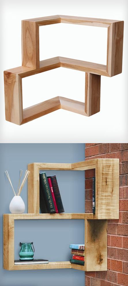 Corner shelf // brilliant use of space #furnituredesign #productdesign
