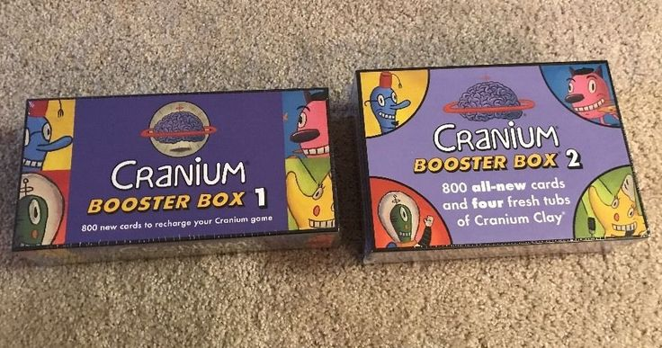 New Cranium Booster Box 1 & 2   800 x 2 Game Refill Cards Factory Sealed NIB
