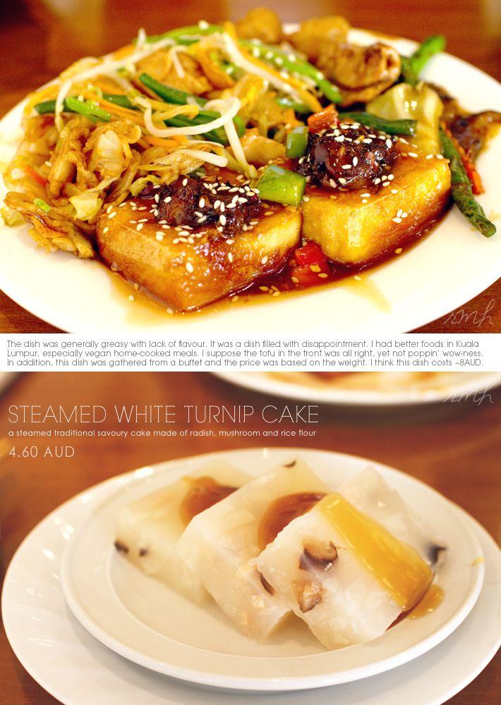 (Sydney, Australia) Green Gourmet: vegan Fried Tofu & Steamed White Turnip Cakes