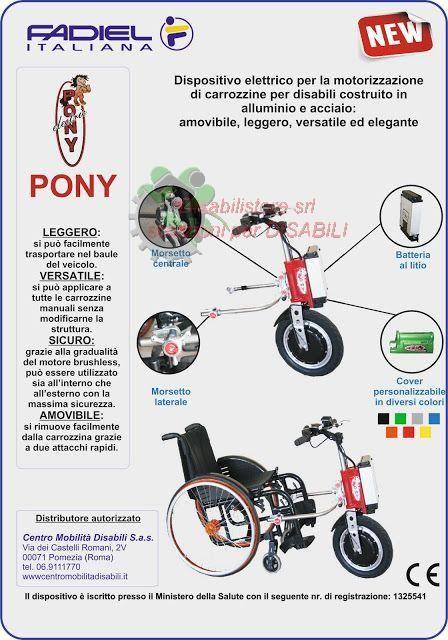TERZA RUOTA ELETTRIFICATA PER CARROZZINE PONY. Ausili per disabili e anziani online