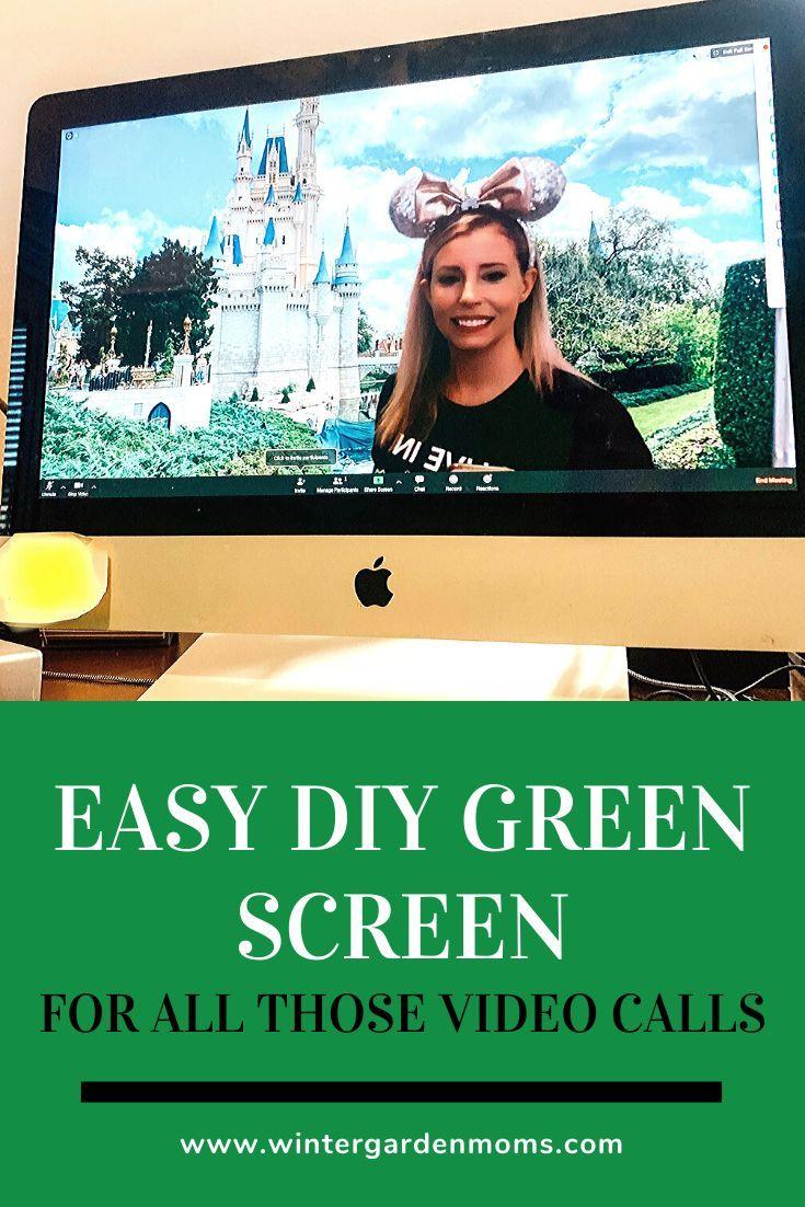 Easy Diy Green Screen Greenscreen Background Diy Disney Diy