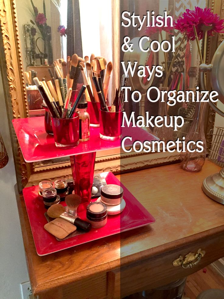 Check out some cool ways to organize your #makeup #cosmetics #beauty