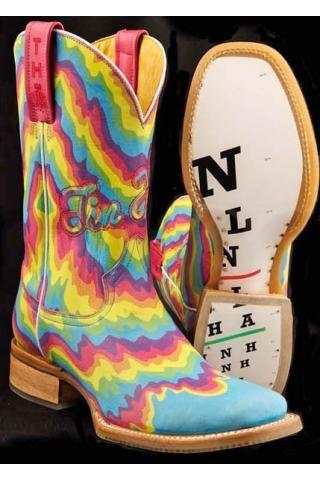 Women S Blue Neon Melt Tin Haul Boots I Can Sing A Rainbow Shoe
