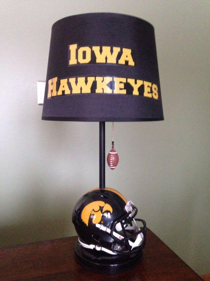 Iowa Hawkeyes football helmet lamp by thatlampguyGraz on Etsy https://www.etsy.com/listing/183233127/iowa-hawkeyes-football-helmet-lamp