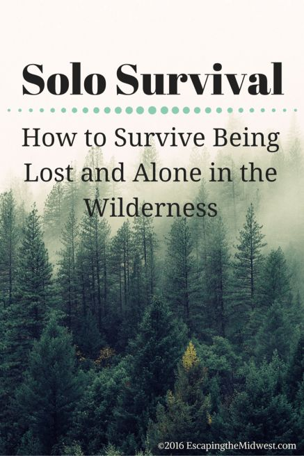 Solo Survival - How to Survive Being Lost and Alone in the Wilderness