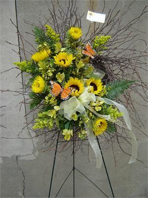 branch floral arrangements | ... in sympathy flower arrangements