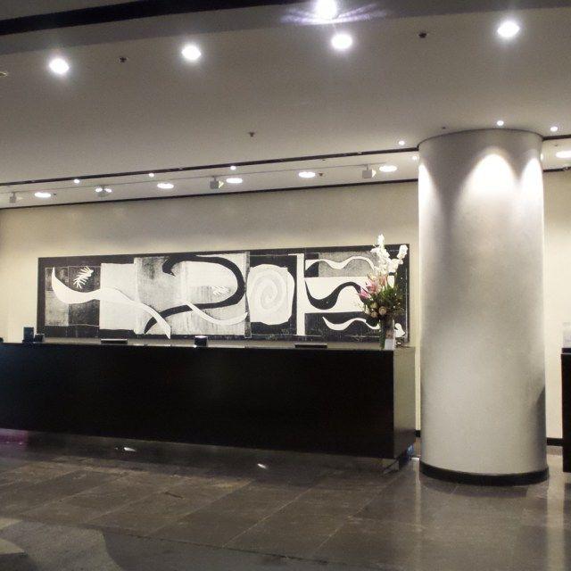 Check-in area at the Hilton Brisbane Hotel