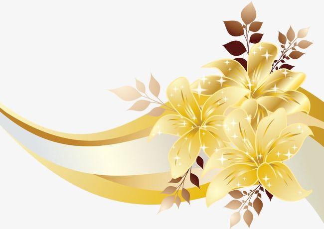 Golden Flower Effect Flower Vector Effect Vector Png Transparent Clipart Image And Psd File For Free Download Golden Flower Flowers Wedding Invitation Card Design