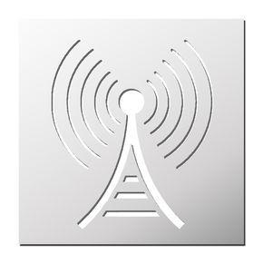 Pochoir Antenne Radio