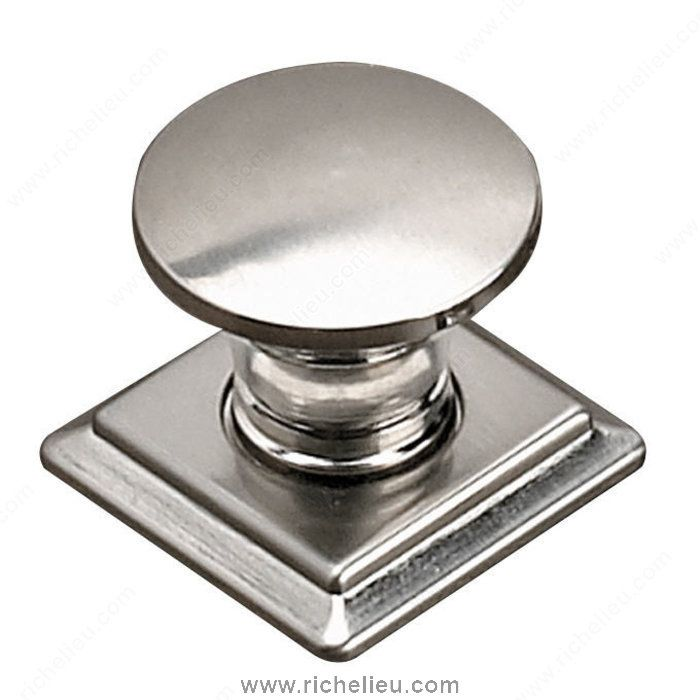 Contemporary metal knob 467 richelieu hardware 5 10 for Contemporary cabinet pulls and knobs