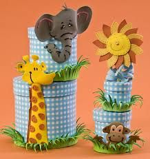 caja para guardar pinturas niños animales -