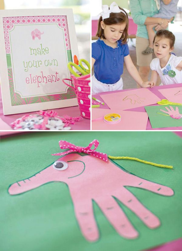 Lilly Pulitzer Pink Elephant First Birthday Party