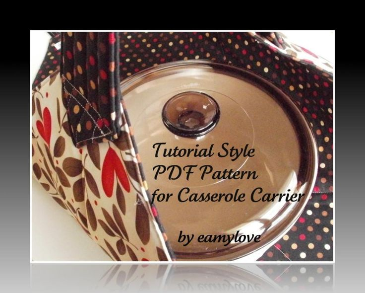 (7) Name: 'Quilting : Aunt Ellie's Casserole Carrier Pattern