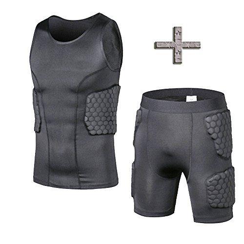 TY Safe Guard Padded Compression Sports Shorts Protective Vest Pants Suit For Football Basketball Parkour Extreme