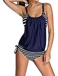 Donna Avvolgere Senza Ferretto Bikini Imbottito della Spiaggia Costume da Bagno …