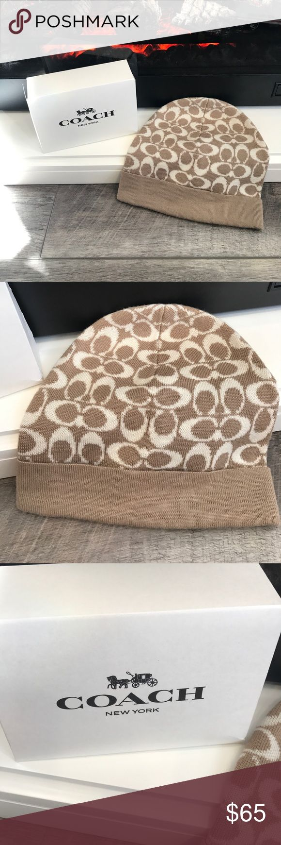 ‼️NWOT Coach Hat‼️ NWOT Coach Hat! Includes Box! OS! Wool And Acrylic! Super Cute! ‼️OPEN TO OFFERS‼️ Coach Accessories Hats