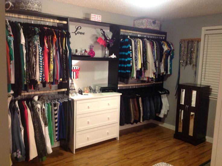 Turned a spare room into a closet!