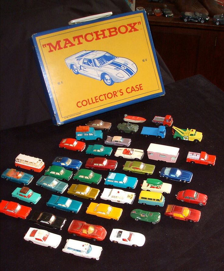 Matchbox Cars! I have this exact showcase/carrying case....