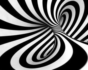 Fototapeta F866 - Czarno-biały wir