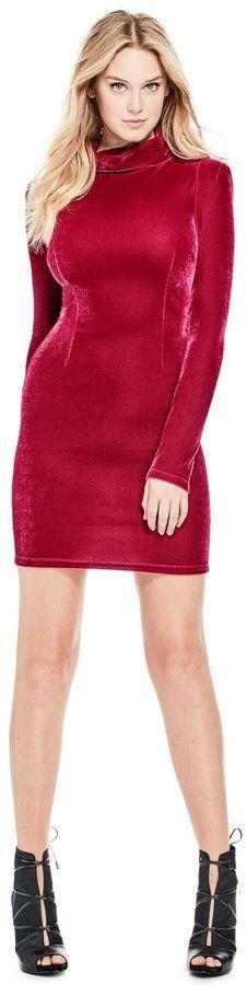 GUESS Women's Olga Velvet Dress