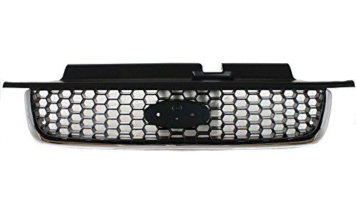 Evan-Fischer EVA17772022948 Grille for Ford Escape 01-04 Plastic Black W/Chrome Molding XLT Model Replaces Partslink# FO1200390. For product info go to:  https://www.caraccessoriesonlinemarket.com/evan-fischer-eva17772022948-grille-for-ford-escape-01-04-plastic-black-wchrome-molding-xlt-model-replaces-partslink-fo1200390/