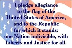 The real & original Pledge of allegiance did not have god in it